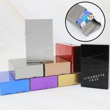 Cigarette-Case Gadgets Smoker Metal Man Gift Personality 20pcs Large-Capacity Durable