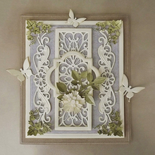 Lace Curves Border Frames Square  Scrapbooking Dies Metal Crafts Layering Cutting Greeting Card Handmade Making