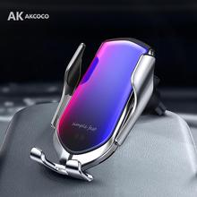 Wireless Automatic Smart Sensor Car Phone Holder and Charger Car Mount for iphone xr samsung Smartphones Charger Suction Cup
