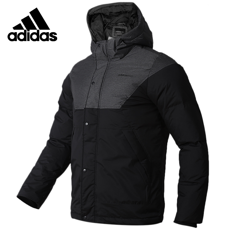 adidas neo mens utility padded hooded down jacket