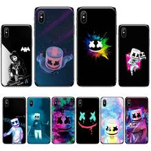 цена DJ Marshmello Phone Case For iphone 4 4s 5 5s 5c se 6 6s 7 8 plus x xs xr 11 pro max онлайн в 2017 году