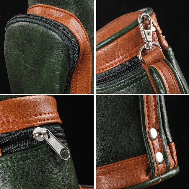 Multifunctional Functional Golf Cigar Bag Portable Cigar Case Holder With Cigar Cutter Suitable For Family Travel Camping Bags 6