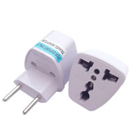 Universal UK US AU To EU Plug Adapter Travel Brazil Argentina Switzerland Electrical Plug Socket Converter 100 Pcs/lot