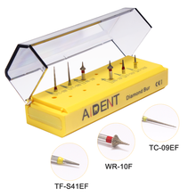 Dental teeth burs diamond bur interproximal enamel reduction drill kit for dental lab high speed handpiece 6pcs/pack AI-FGS01