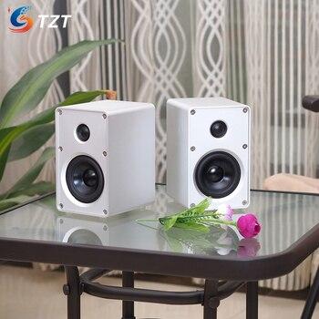 "TZT 3"" Passive Speakers Pair Bookshelf Speakers Stereo Aluminum Alloy Shell Wall Mount For Home Theater"