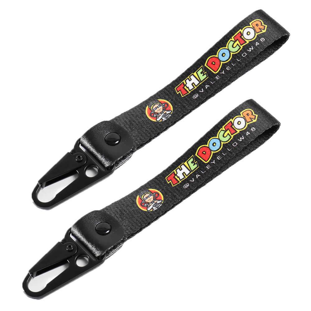 سلسلة مفاتيح السيارة حزام مفتاح دائم للدراجات النارية كيرينغ الهاتف الحبل لكاواساكي الوحش النينجا ياماها YZF هوندا CBR KTM DUKE