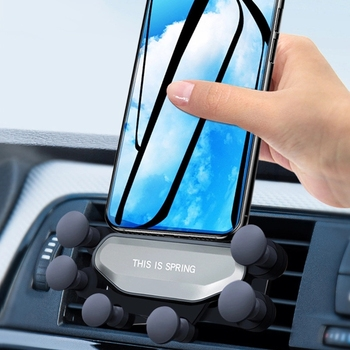 2019 New One Universal Car Phone Holder GPS Stand Gravity Stand For Phone in Car Stand No Magnetic For iPhone X 8 Xiaomi Support 1