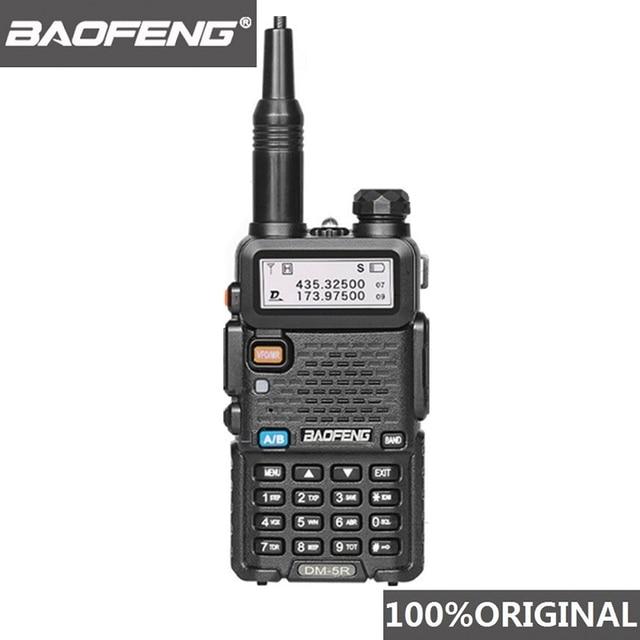 Baofeng Walkie Talkie Digital DM 5R DMR, 5W, VHF, UHF, 136 174/400 480MHz de largo alcance, estación de Radio bidireccional DM 5R, DM5R