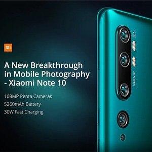 Image 3 - הגלובלי גרסת שיאו mi Mi הערה 10 6GB RAM 128GB ROM Smartphone 5260mAh סוללה 108MP אחורי מצלמה תשלום מהיר חכם טלפון נייד