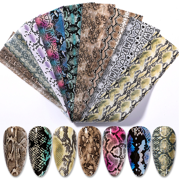 10 Pcs Rose Flowers Nail Foils Tropical Leaves Colorful Nail Decals Transfer Decorations Sets for Manicuring DIY Sticker Slide 29