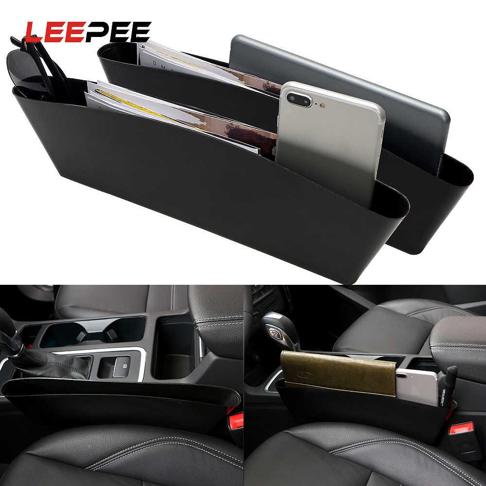 2 unidades organizador de coche caja de almacenamiento universal para asiento de coche Organizador de asiento de coche con bolsillo lateral de piel sint/ética con soporte para tazas