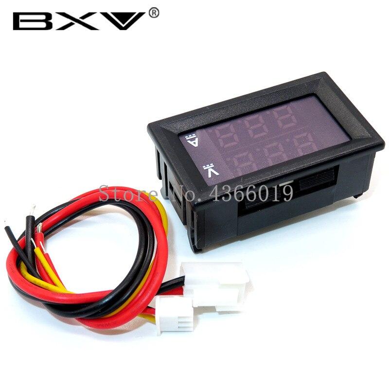 DC 0-100V 10A Digital Voltmeter Ammeter Dual Display Voltage Detector Current Meter Panel Amp Volt Gauge 0.28