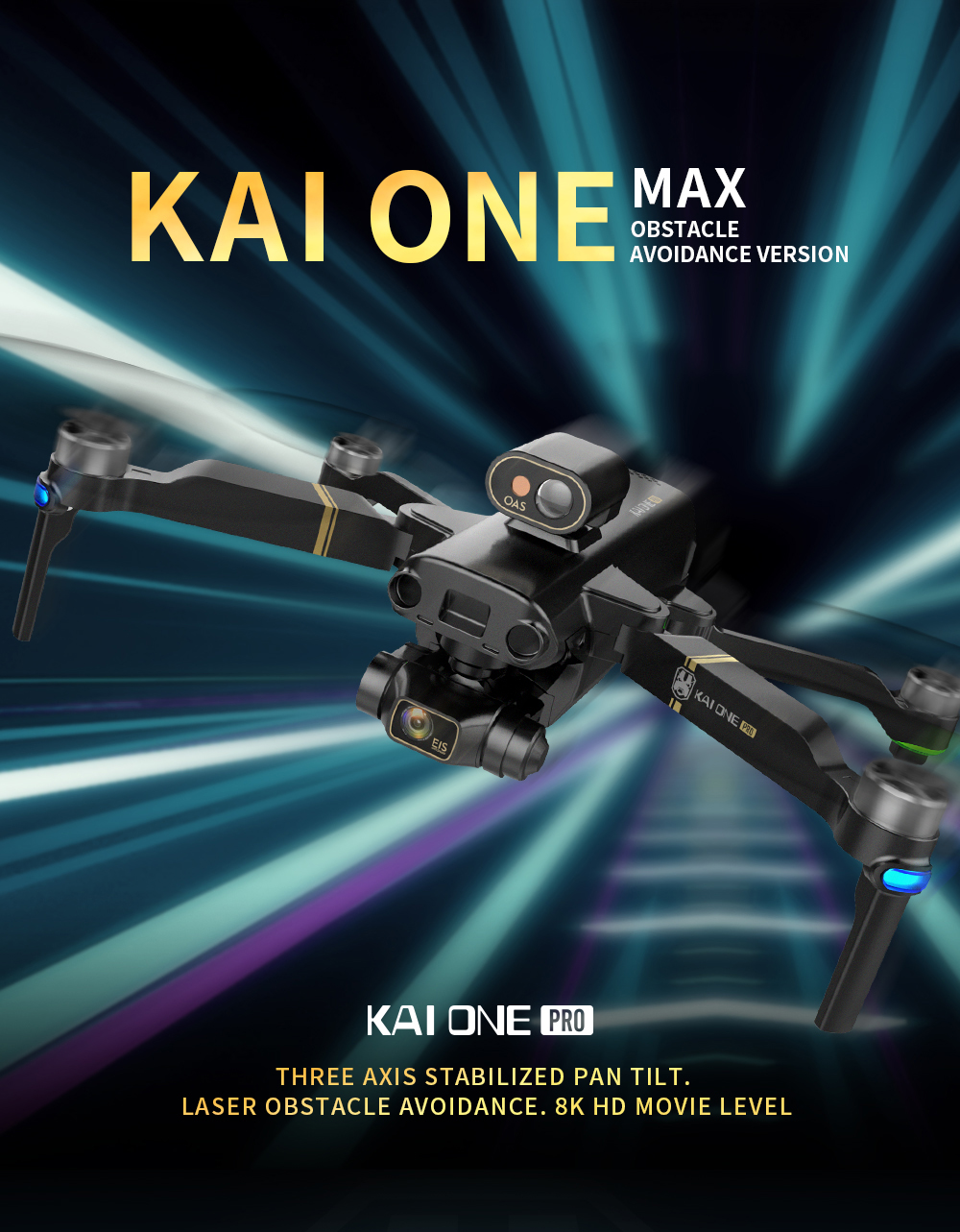 H01414169bc31418bbaab7494895fb90em - KAI ONE MAX GPS Drone 4K Camera 5G FPV WiFi Laser Obstacle Avoidance Altitude Hold Brushless RC Quadcopter Profesional Dron