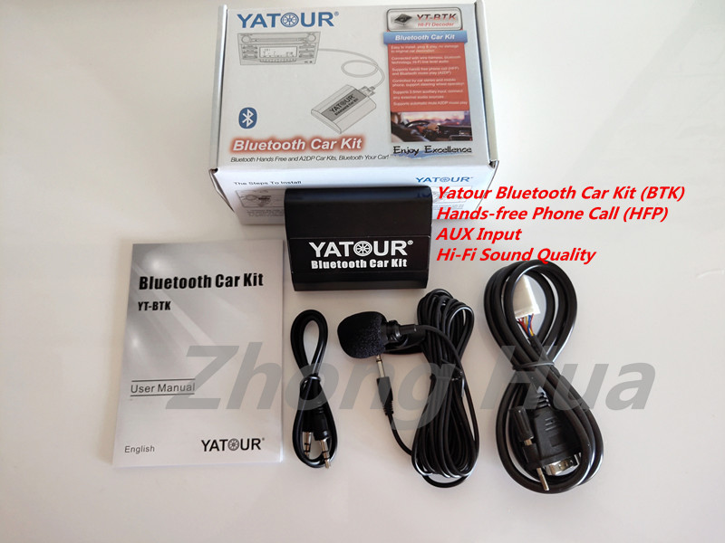 Highlander Adaptador de radio para auto libres USB SD AUX MP3 Bluetooth manos libres para Toyota y Lexus Corolla