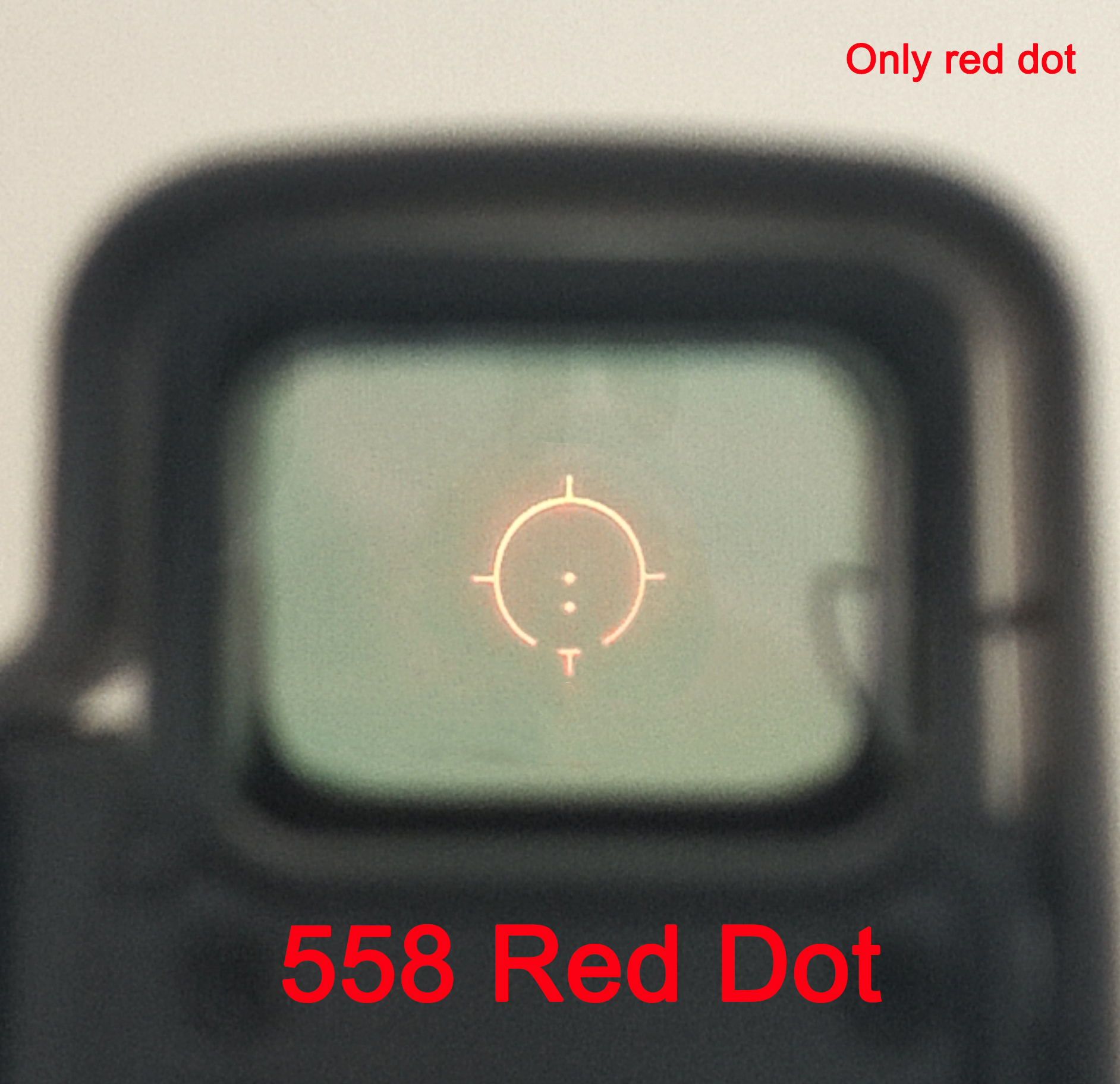 Tactical <font><b>558</b></font> Collimator Holographic Sight Red Dot Optic Scope Reflex Sight with 20mm QD Rail Mount for Airsoft image