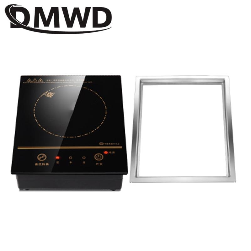 Электрическая индукционная мини-плита, магнитная, с проводным управлением, встроенная варочная панель, горелка, водонепроницаемый нагреватель, котел для молока, чая, плита, варочная панель 1