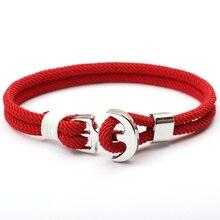 NIUYITID новые красные нити веревки женские браслеты пиратский Шарм якорь браслет на руку pulsera hilo armbandjes dames