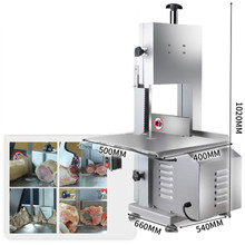 220v Electric Cutting Machine Automatic Dicing Meat Cutter Tool Commercial Meat Cut Meat Beef Sheep Bones Desktop Bone Saw 1.1KW
