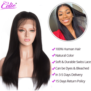 Image 4 - Celie HD dantel ön peruk düz dantel ön peruk 150 180 250 yoğunluk dantel ön İnsan saç peruk HD şeffaf dantel peruk