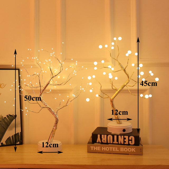 Table Lamp Copper Wire Christmas Ornament Home Night Light
