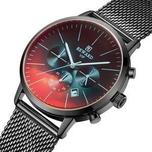 Image 2 - 2019 New Fashion Watch Men Top Brand Luxury Chronograph Sport Mens Watch Color Bright Glass Clock Waterproof Men Wrist Watch