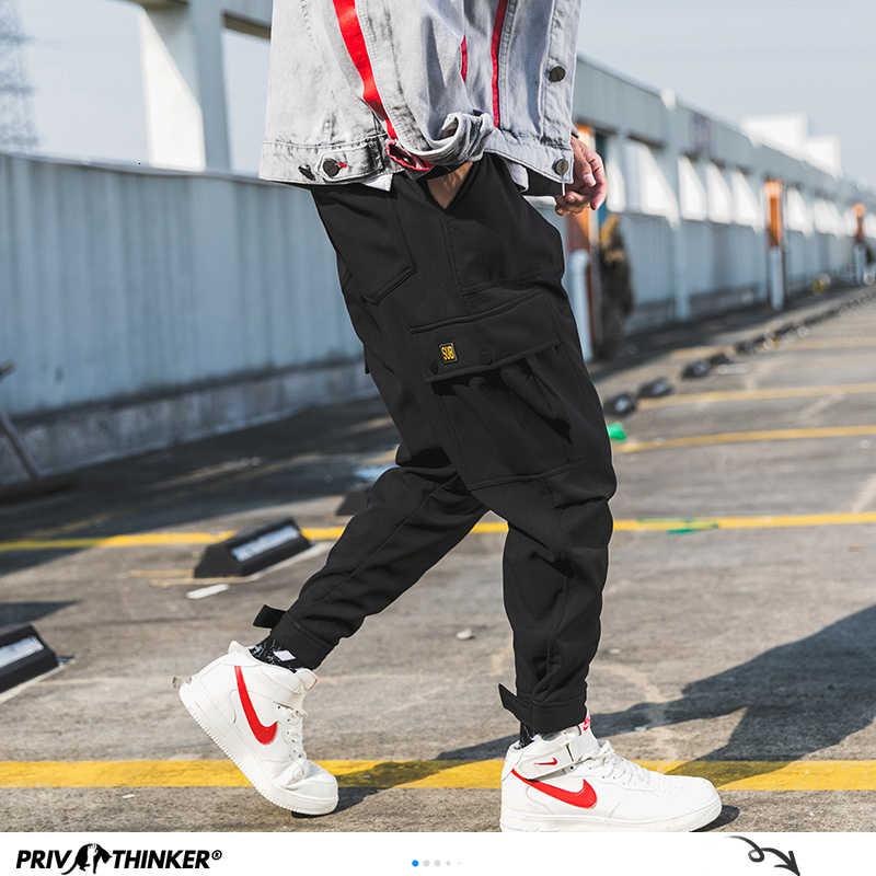 Privathinker Mannen Zwart Joggers Broek Zomer 2020 Heren Grote Zakken Ankel Cargo Broek Mannelijke Lente Streetwear Overalls Joggingbroek