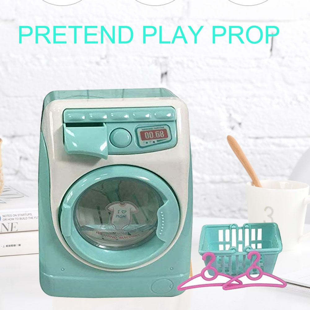 Girls Mini Makeup Brush Cleaning Electric Washing Machine Toys Pretend Play Kids Toys Children Furniture Toys Children's Gift