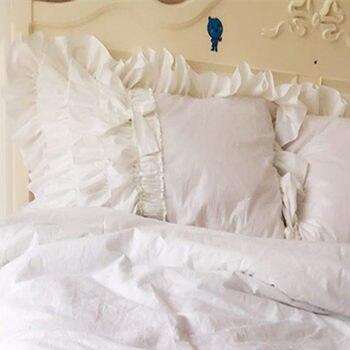 2 uds capa de pastel funda de almohada boda ropa de cama textil princesa funda de almohada con lazo hermosa almohada con volados funda de almohada decorativa