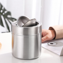 Windproof Ashtray Car-Supplies Tobacco Stainless-Steel Smoke Home Container Ash-Holder