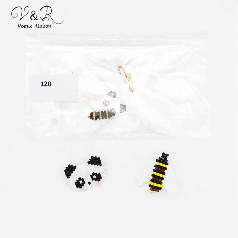 DIY Buatan Tangan Perhiasan Membuat Biji Manik-manik Panda Lebah Madu Hiasan Liontin untuk Bros Pin Komponen Dekorasi Fashion Aksesoris