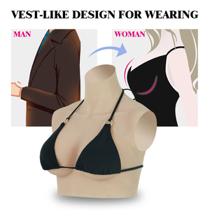 Image 3 - Roanyer artificial silicone fake breast forms C Cup Realistic Fake Boobs for crossdressing transgender crossdresser male to fema