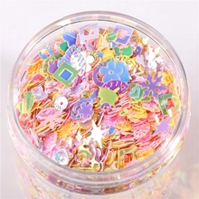 Sequins Flower-Shell Paillettes Slime-Filler Packing-Nails Craft Mixed Star Heart Pink