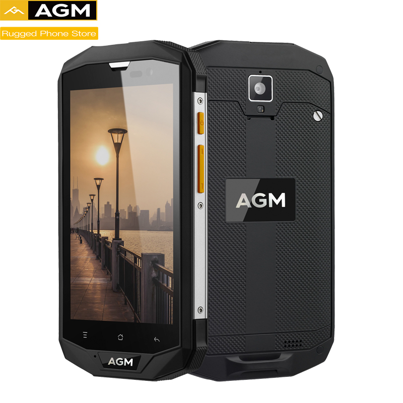 AGM A8 <font><b>Android</b></font> <font><b>7.0</b></font> 5.0 inch Rugged <font><b>Smartphone</b></font> 3GB RAM 32GB ROM 13.0MP IP68 Waterproof 4050mAh OTG NFC Mobile Phone image