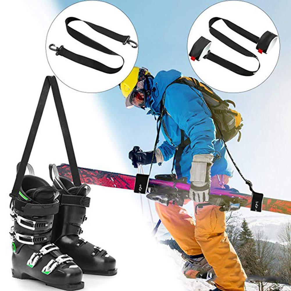 1Pc Snowboard Boot Carrier Straps,Belt on Shoulder For Ice Ski Skate Skates Leash W0R4