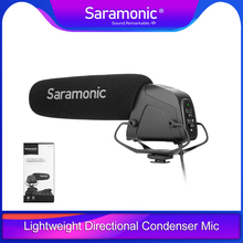 Saramonic SR-VM4 Lightweight Directional Condenser Microphone with shock mount provides audio with DSLR cameras and camcorders