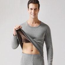 Новое термобелье мужские подштанники мужской на зиму и осень рубашки+ брюки наборы теплый толстый плюс бархат Размер m-xxxl