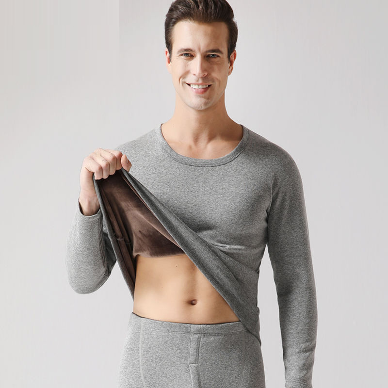 2019 New Thermal Underwear Mens Long Johns Male Autumn Winter Shirts+pants Sets Warm Thick Plus Velvet Size M-XXXL