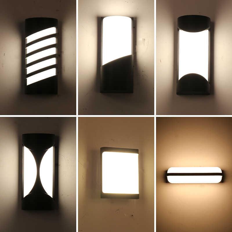 جديد وصول في الهواء الطلق إضاءات جدران ضد الماء الألومنيوم الجدار الشمعدان موردن LED الإضاءة للمنزل الخارجي مصباح شرفة الشرفة الخفيفة