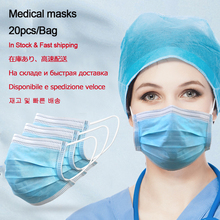 60pcs Fcae Mask Medical Masks Professional Disposable Earloop For Dust Germ Protection And Personal Health