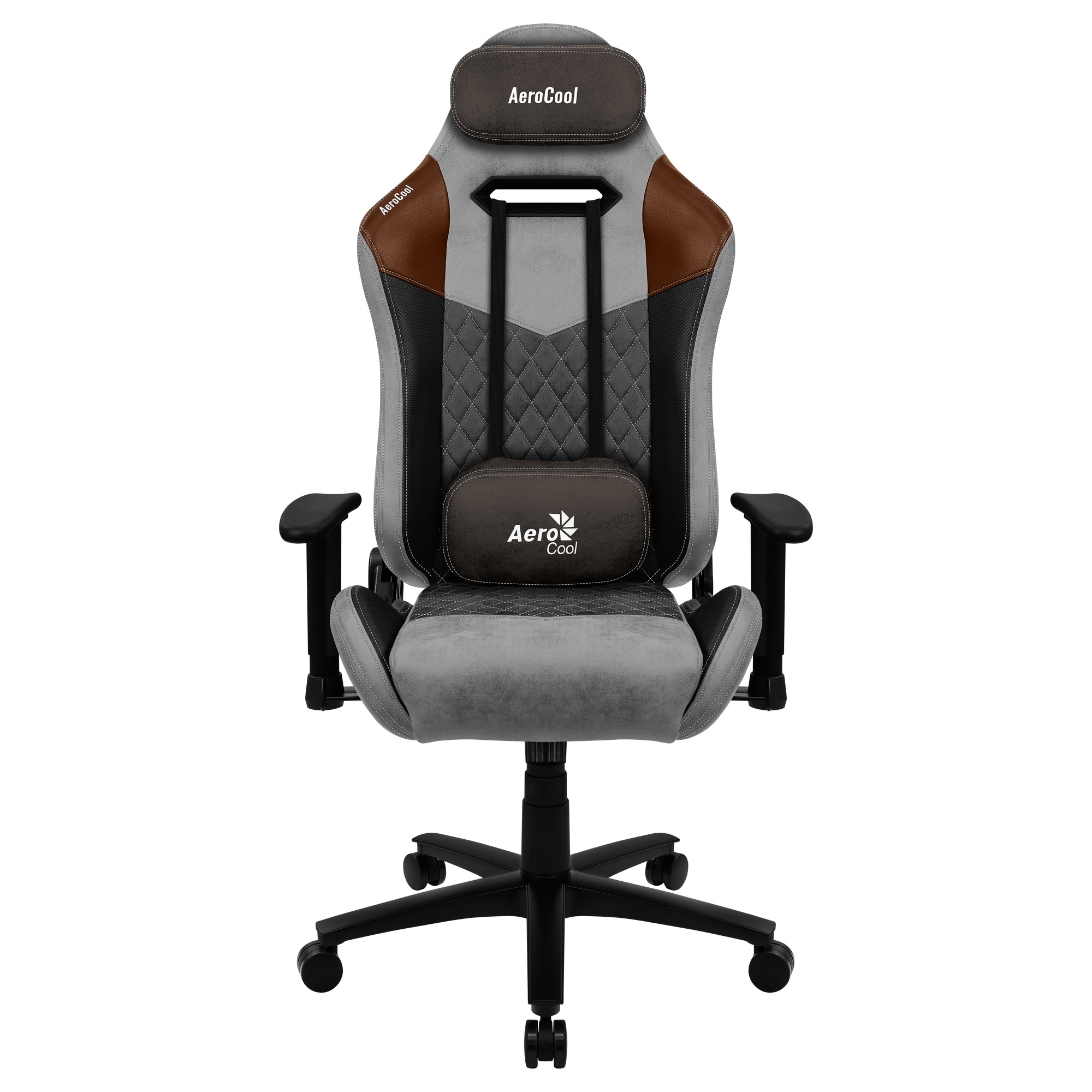 Aerocool DUKE, Gaming Chair, AeroSuede Breathable, Backstop Adjustable, Grey
