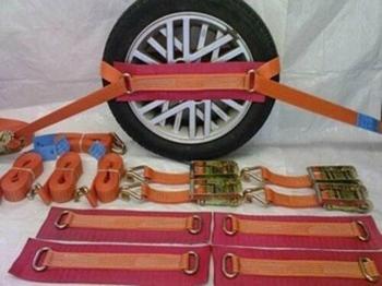 Dragonpad Recovery Car Alloy Wheel Tie Down Ratchet Straps