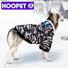 Coat HOOPET Winter Cotton Warm for Big-Dog Leisure-Style Camouflage-Color Large