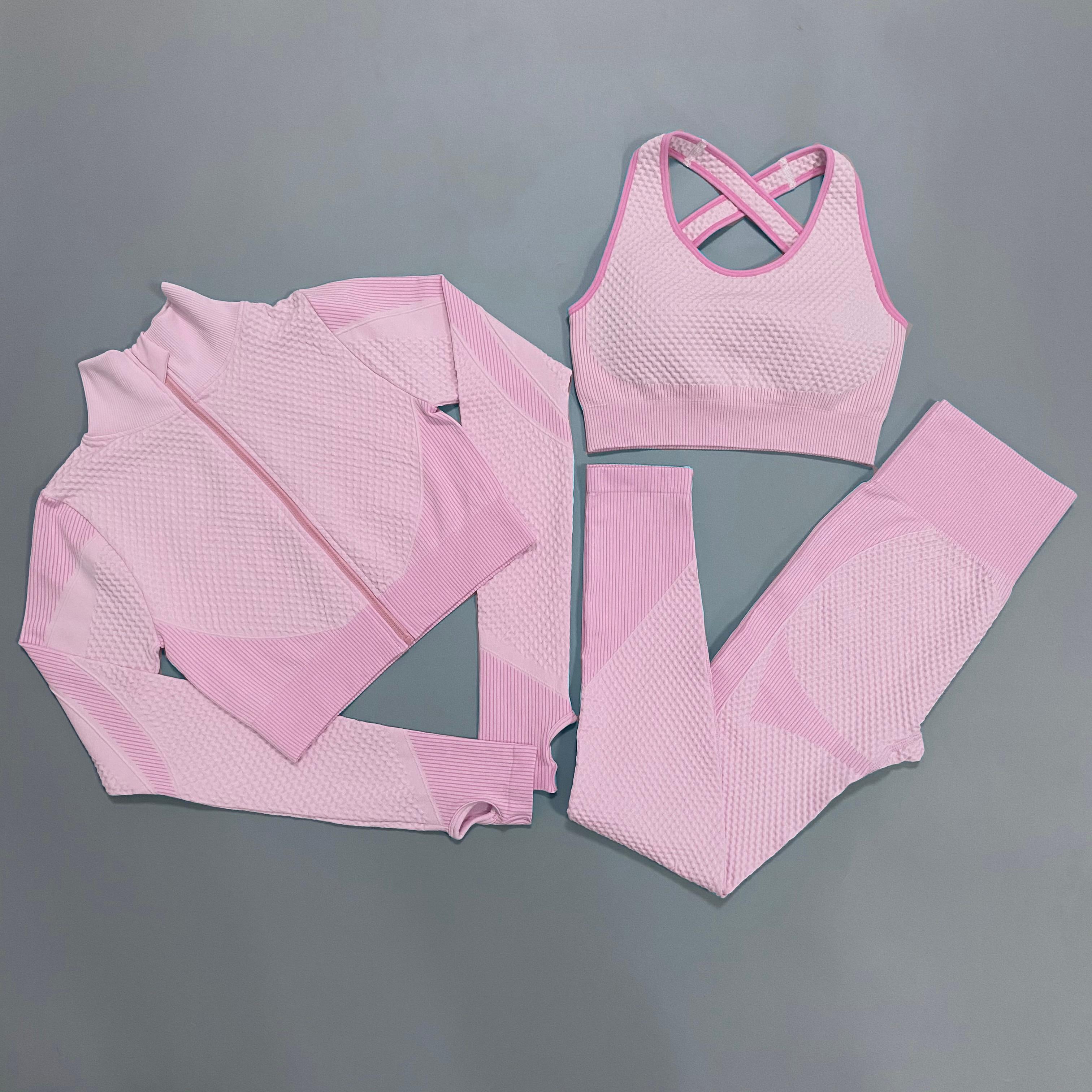 Бесшовный комплект для йоги, одежда для тренировок в тренажерном зале, одежда для фитнеса для женщин, леггинсы, спортивный костюм, спортивны...