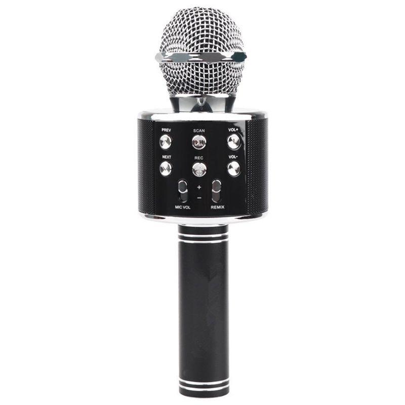 Wireless Bluetooth Karaoke Ws858 Microphone Speaker Portable Handheld Karaoke Mic Speaker Machine Singing Hosting Ktv Ws 858 Bla