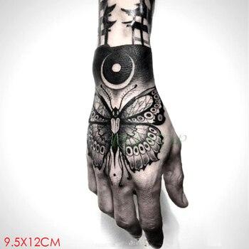 Tatuaje temporal a prueba de agua pegatina mariposa insecto tatuaje falso Flash tatuaje mano brazo arte tatuajes para chica mujeres hombres