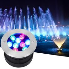 AC 12V LED Pool Light IP68 Waterproof Stainless Steel Underwater Lamp For Park Fountain Swimming