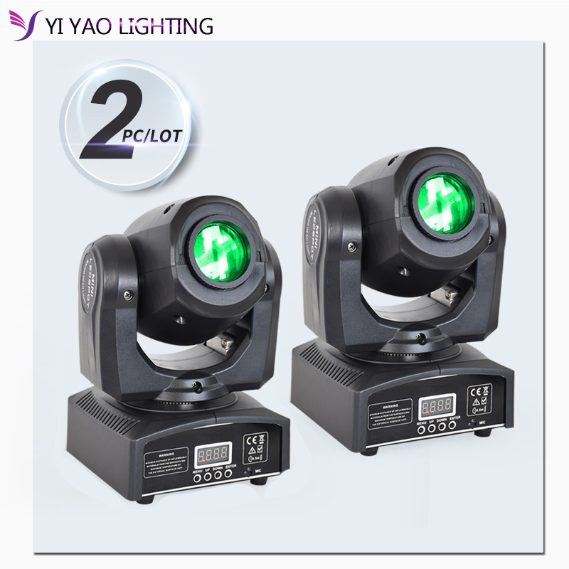 Moving Head Spot Dj Lights Mini 10w Gobo With Manual Focus Lyre Led Light For Home Party Stage Lighting 2pcs/lot