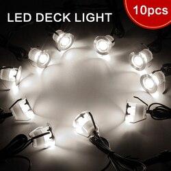 LED Deck Lichter Kit, edelstahl Wasserdichte Outdoor Garten Hof Dekoration Garten Lampe Einbau Holz Deck Treppen Licht 10 stücke