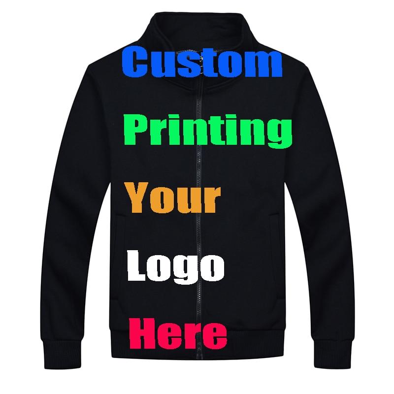 Custom Print Jacket Embroidery Women Men Silk Screen Transfer Customized Jackets Spring hoodie Printing Names Advertisement