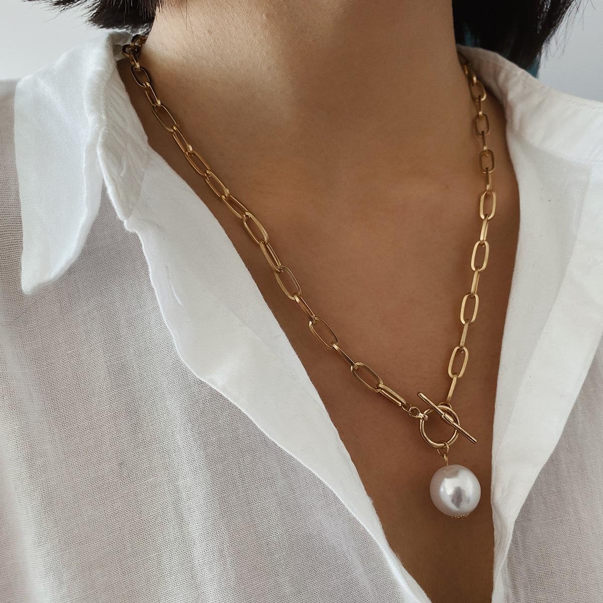 Elegant Coeur Amour Pour Femme Charme Tour de cou en acier inoxydable Femme Collier de perles